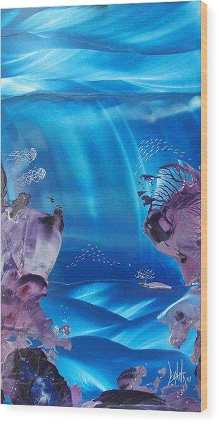 Sea Fan Reef Wood Print by Danita Cole
