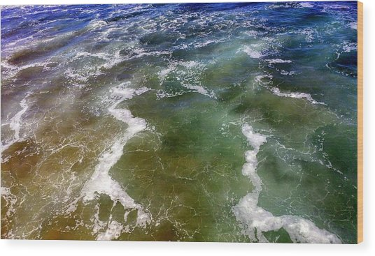Artistic Ocean Photo Wood Print