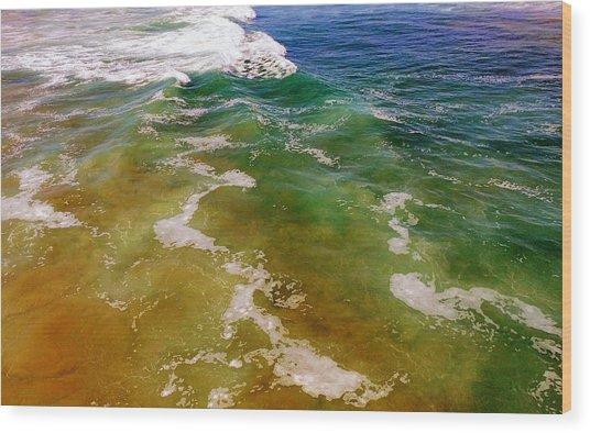 Colorful Ocean Photo Wood Print