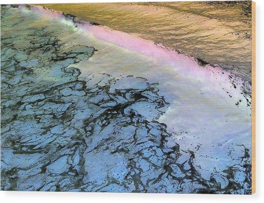 Sea Foam Pink Wood Print