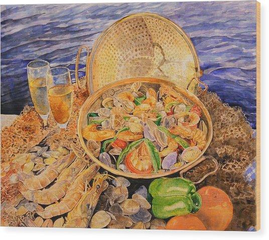 Sea-food Wood Print by Ciocan Tudor-cosmin