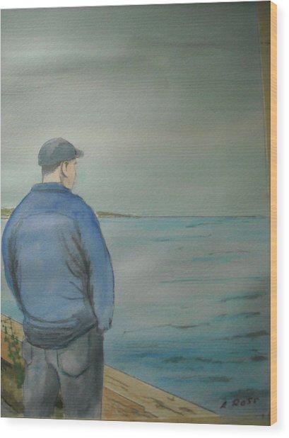 Sea Gaze Wood Print