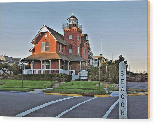 Sea Girt Light Station Wood Print