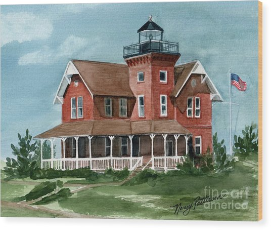 Sea Girt Lighthouse Wood Print