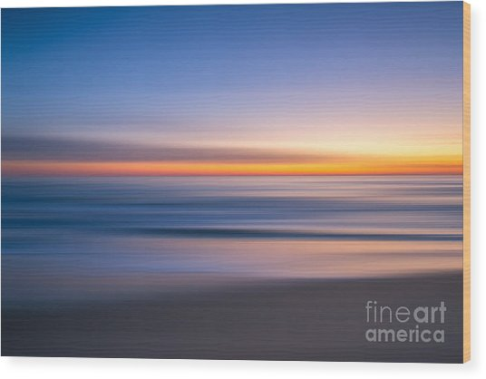 Sea Girt New Jersey Abstract Seascape Sunrise Wood Print
