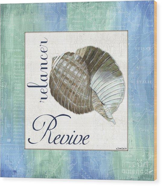 Sea Glass 4 Wood Print
