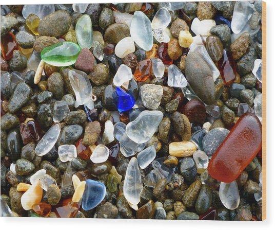 Sea Glass Beauty Wood Print