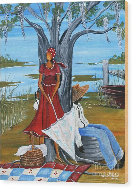 Sea Island Living Wood Print by Sonja Griffin Evans