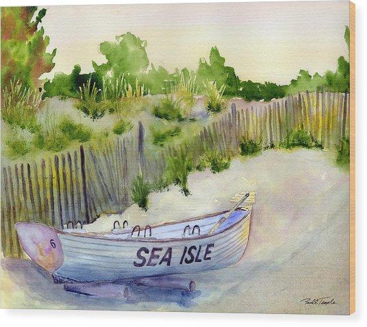 Sea Isle Rescue Boat Wood Print by Paul Temple