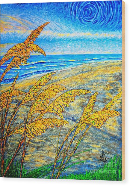 Sea Oats Dual#2 Wood Print