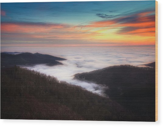 Wood Print featuring the photograph Sea Of Clouds by Ryan Wyckoff