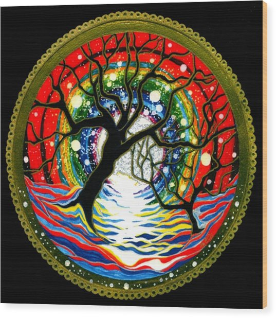 Sea Of Color Wood Print by Pam Ellis