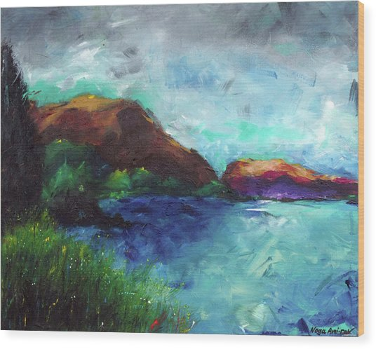 Sea Of Galilee And Mt Arbel Wood Print by Noga Ami-rav