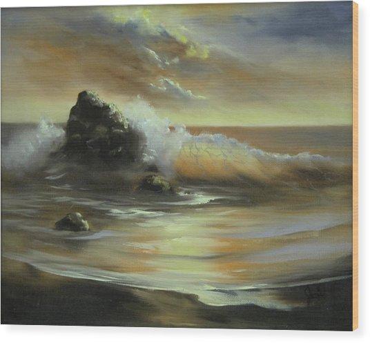 Sea Of Gold Wood Print