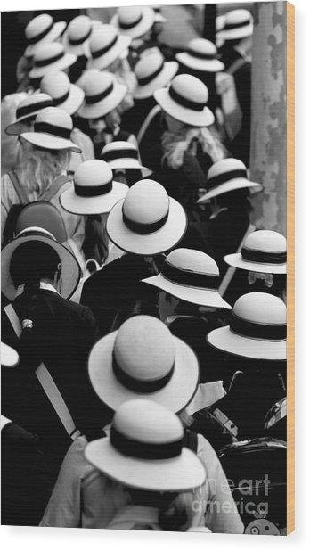 Sea Of Hats Wood Print