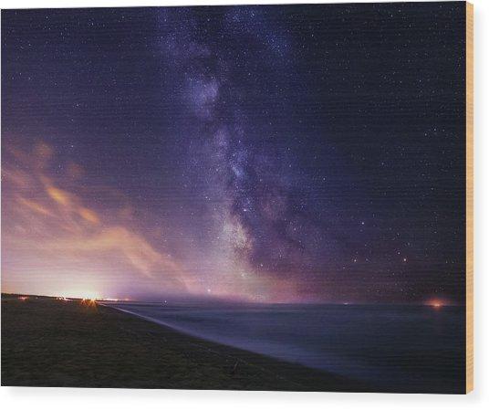 Sea Of Stars Wood Print
