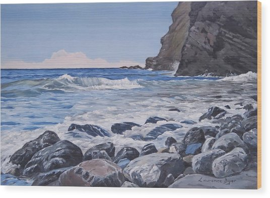 Sea Pounded Stones At Crackington Haven Wood Print
