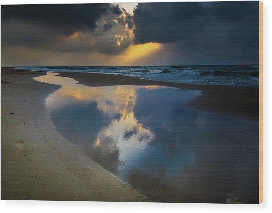 Sea Reflections Wood Print