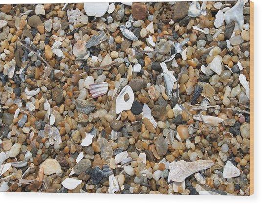 Sea Rocks Wood Print by Marcie Daniels