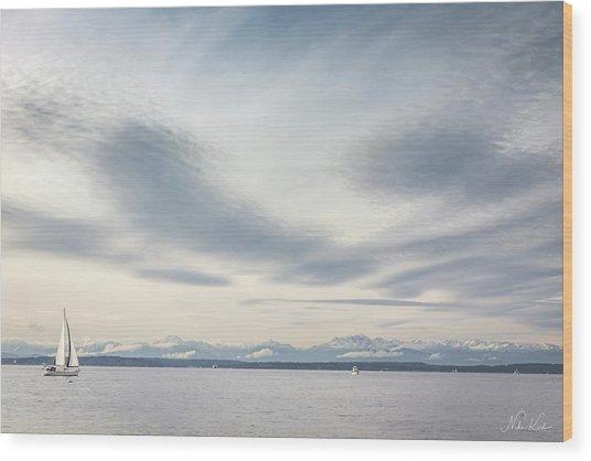 Sea Scene Wood Print