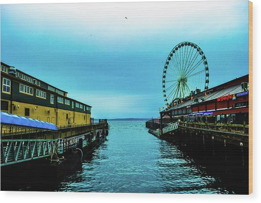 Sea Side, Seattle 2 Wood Print