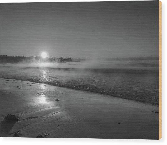 Sea Smoke Wood Print