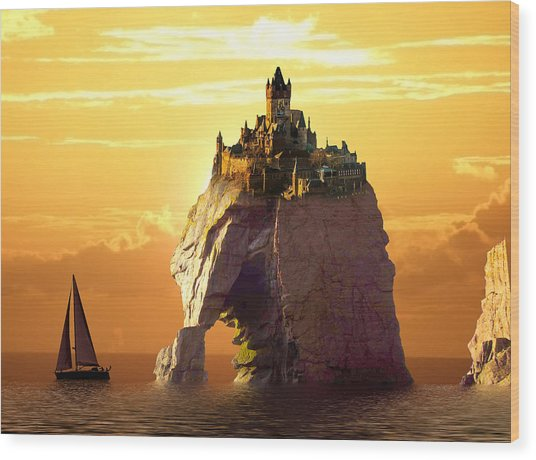 Sea Stack Wood Print