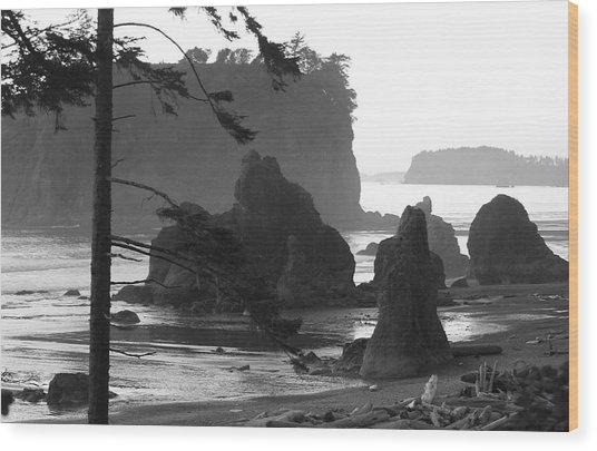 Sea Stacks Wood Print by Sonja Anderson