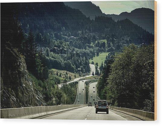 Sea To Sky Highway Wood Print
