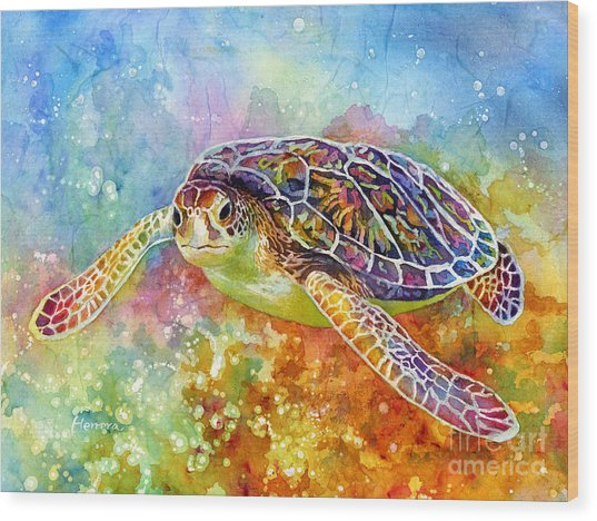 Sea Turtle 3 Wood Print