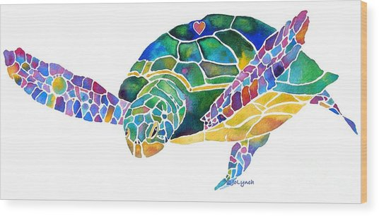 Sea Turtle Celebration 4 Prints Only Wood Print