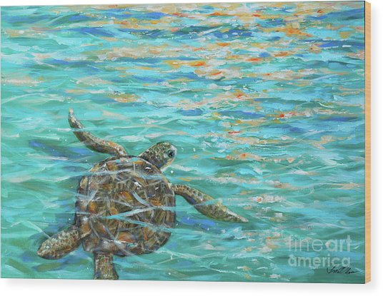 Sea Turtle Dream Wood Print