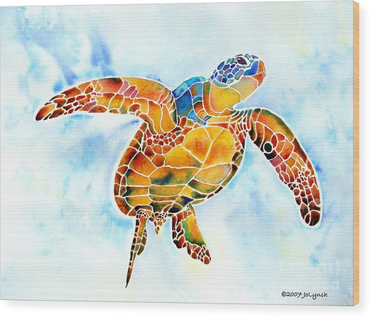 Sea Turtle Gentle Giant Wood Print