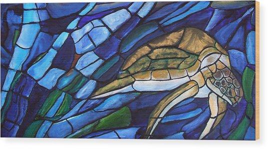 Sea Turtle I Wood Print by David McGhee