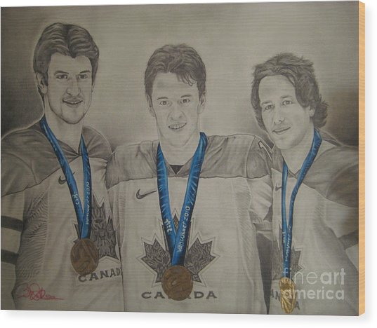 Seabrook Toews Keith Gold Medal Wood Print by Brian Schuster
