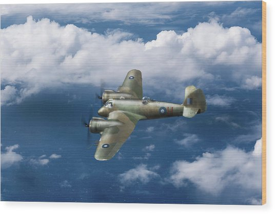 Wood Print featuring the photograph Seac Beaufighter by Gary Eason