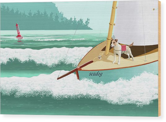 Seadog Wood Print