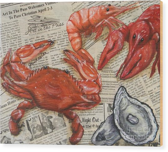 Seafood Special Edition Wood Print