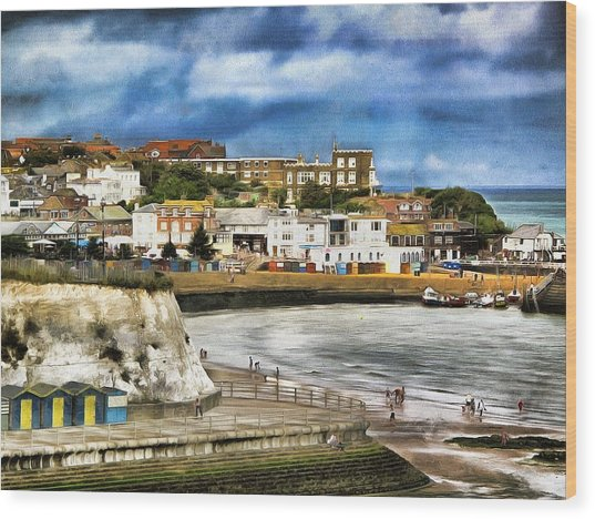 Seafront Broadstairs Kent Wood Print
