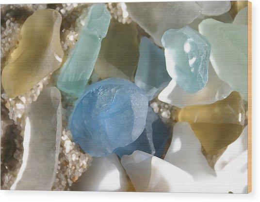 Seaglass Wood Print