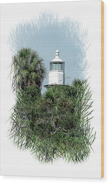Seahorse Key Light Wood Print