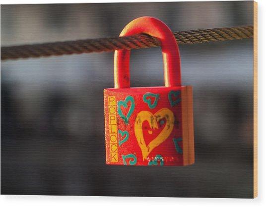 Sealed Love Wood Print