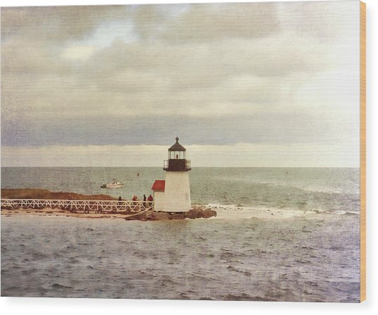 Seamans Light Wood Print by JAMART Photography