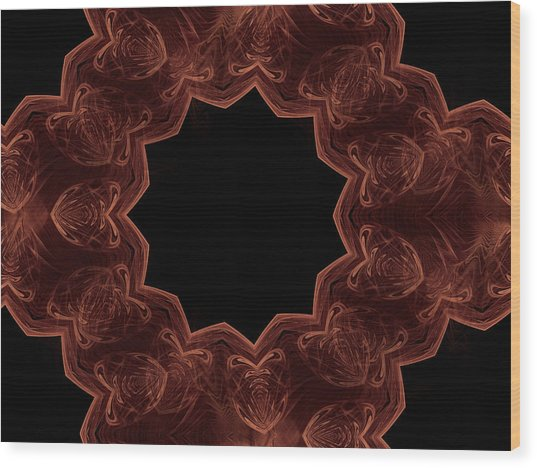 Seamless Kaleidoscope Copper Wood Print