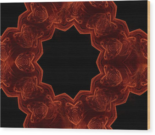 Seamless Kaleidoscope Copper Saturated Wood Print