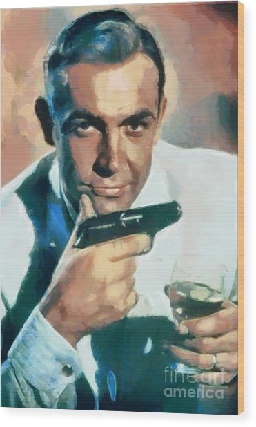 Sean Connery Collection - 1 Wood Print
