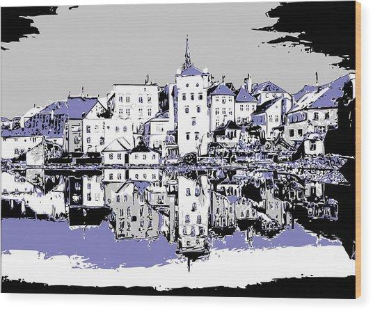 Seaport Mirror Wood Print