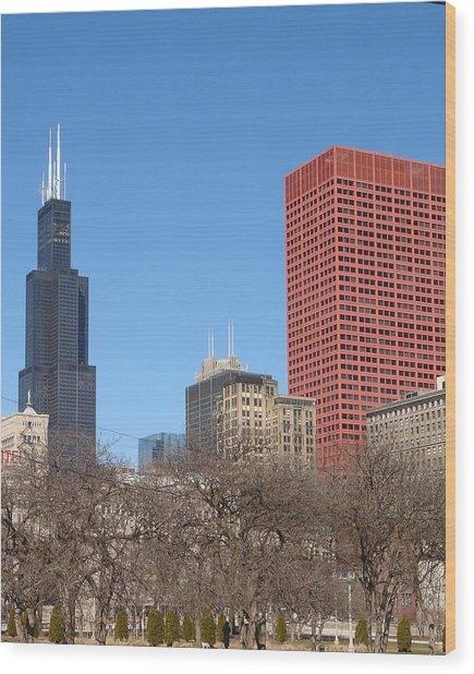 Sears Tower Wood Print by Wayne Whitney