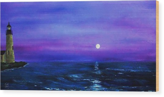 Seascape II Wood Print by Tony Rodriguez
