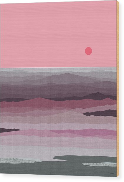 Seascape Pinks Wood Print